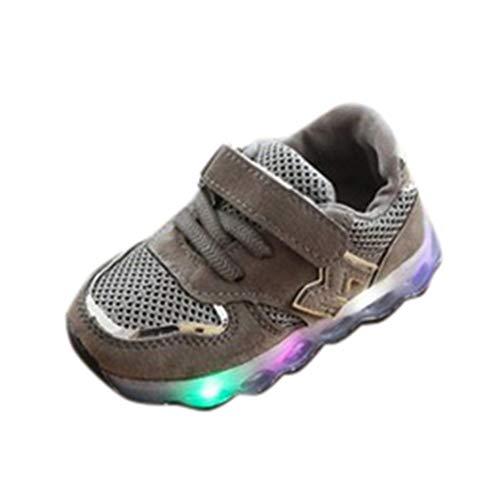 UOMOGO Scarpe Regalo Bambino Scarpe LED,Sportive Luminose Sneakers Bambini ragazzi scarpe con luce