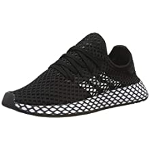 Adidas Unisex-Erwachsene Deerupt Runner J Fitnessschuhe, Schwarz(core black/ftwr white/grey five), 38 EU(5 UK)