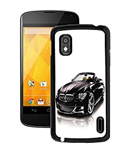 Fuson 2D Printed BMW Car Designer Back Case Cover for LG Google Nexus 4 - D644