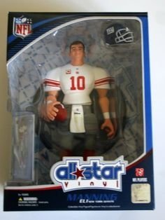 Eli Manning 2008 NFL All Star 9 Inch Vinyl Figure New York Giants Action Figure with Toy Football and Trading Card Upper Deck Collectible by NFL