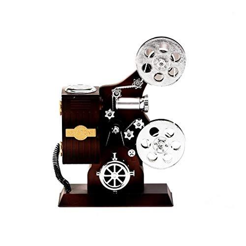 MICHAELA BLAKE Retro Film-Projektor Mini Vintage Musik-Box Schmuck-Box Klassische Mechanische Overhead-Projektor Music Box DIY Fertigkeit Tischdekoration