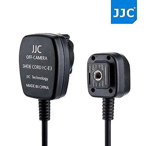 JJC FC-E3 (1.3M) TTL Off-Camera Flash Sync Cord Hot Shoe Cord 1.3 meters for Canon replace OC-E3