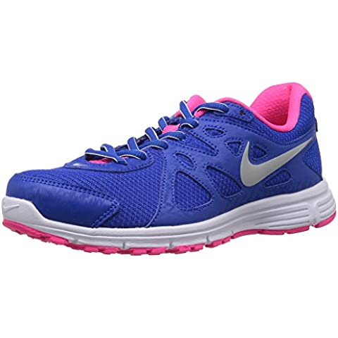 Nike Wmns Revolution 2 MSL - Zapatillas de running para mujer, color azul / rosa / blanco