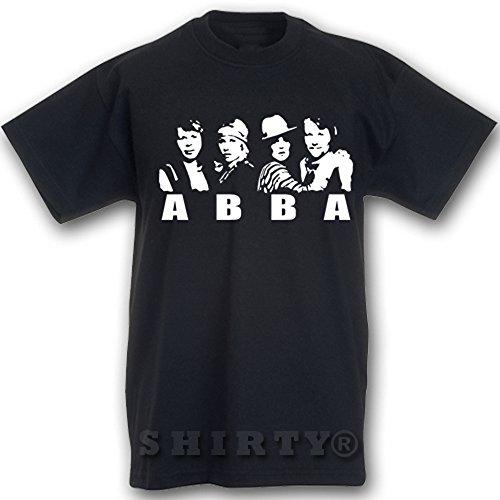 Abba - T Shirt - schwarz - S bis 5XL - 022 Schwarz