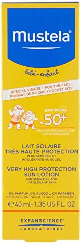 Mustela Very High Protection SPF 50+ Sun Lotion for the Face, 40 ml