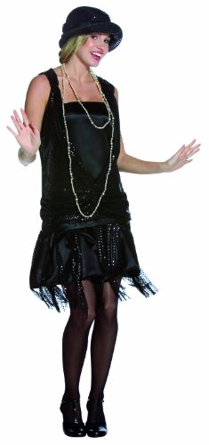 Kostüme Girl Adult Gatsby (Rasta Imposta Gatsby Girl Black, Adult)