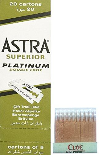 100 Astra Rasierklingen und 20 hämostatische Cerini