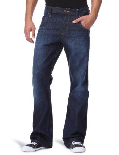 Wrangler - Crank - Jeans - Droit - Homme Bleu (Coloured - Grey Special)