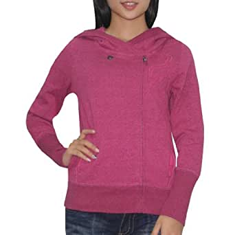 Fox Damen Warm Surf & Skate Zip-Up Hoodie Sweatshirt Jacket XL Violet Rot