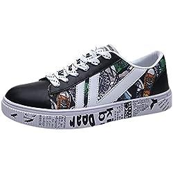 JiaMeng Scarpe da Ginnastica Scarpe da Corsa Scarpe da Trekking Scarpe Casual Scarpe Traspiranti Sneakers Moda Casual da Uomo con Scarpe Basse EU 39-44