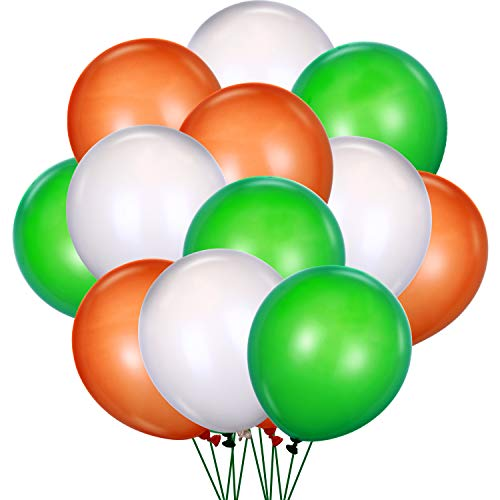 Zhehao 90 Stücke St. Patrick's Day Luftballons Latex Luftballons Dekorationen für Irish Party Supplies, 3 Farben