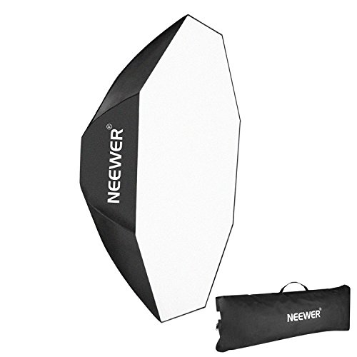 Neewer 60cm Octagona Softbox mit Bowens Mount Speedring und Tragtasche für Speedlite Studio Blitzen, Monolights, Portrait und Produktfotografie -