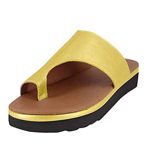 2019 Nouveau Femmes Sandale Chaussures Plateforme Confortable Sandale Chaussures D'été Plage Chaussures De Voyage Sandales Chaussures en Cuir PU pour Femmes, Sandales Orthopédiques à Fond épais