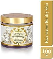 Just Herbs Ayurvedic Herbal Nourishing Facial Massage Cream for Dry skin, Chemical Free, For Men & Women -