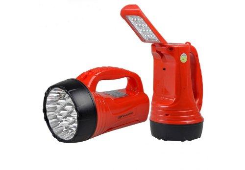 TORCIA A 23 + 16 LED LAMPADA RICARICABILE POTENTISSIMA LUCE