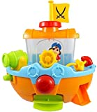 Pirate Ship Boat & Water Cannon Baby Bath Play Time Water Fun Toy