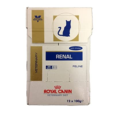 Royal Canin Veterinary Diet Feline Renal RF23 48 x 85g Chicken Sachets (Bulk Buy) by Royal Canin