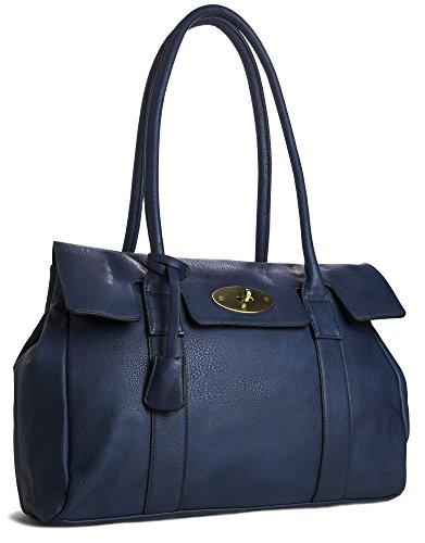 Big Handbag Shop, Borsa a spalla donna One Blu (Blu)