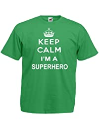 Keep Calm Superhero Mens T Shirt
