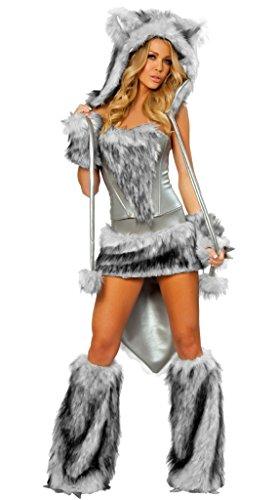 LLY Halloween-Kostüm Uniform Versuchung Rollenspiel-Wolf, Gray (Niedliche 60 Kostüm)