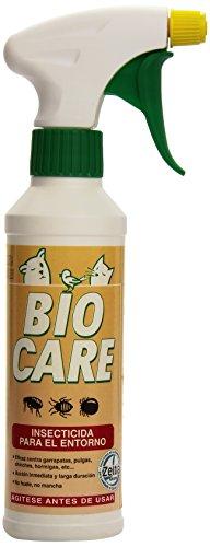Insecticida para recinto Bio Care 300ml Insecticida para el entorno líquido antiparasitario que actúa por ingestión y contacto de forma absolutamente eficaz contra los insectos, tanto voladores como reptantes (pulga, chinche, garrapata, hormiga, etc)...