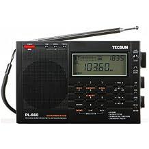 Radar® TECSUN PL-660 Portable AM/FM/LW/Air Shortwave World Band Radio with Single Side Band (black)