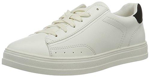 ESPRIT Damen Sidney Lace up Sneakers, Weiß (100 White), 39 EU