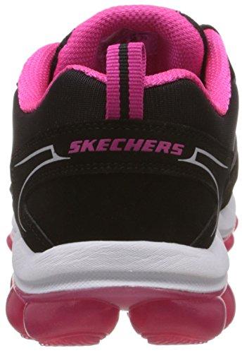 Skechers Skech Air, Peu femme Noir - Schwarz (BKHP)