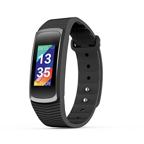 LCLrute IP68 imprägniern Intelligente Uhr SMA-B3 GPS Sport-Gesundheits-Überwachung Hinweis Erinnerung (Schwarz) (Uhr Gesundheit-band)