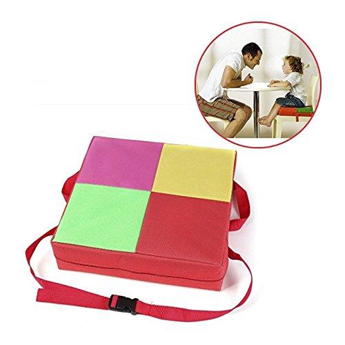 StillCool Kindersitzerhöhung Kindersitzkissen Stuhl Erhöhung Kissen Absetzkipper und Einstellbar Sitzerhöhung High Chair Mat Für Kinder (rot)
