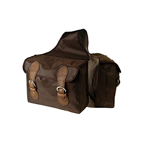 Satteltasche Rückseite aus Nylon mit 2Taschen.ac00060 Schwarz