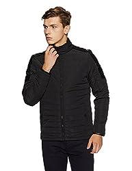 Peter England Mens Jacket (8907411609049_EJK51600032_Medium_Black Solid)