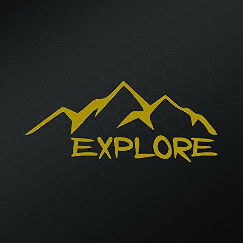 Explore Wandern Camping Vinyl Aufkleber Aufkleber | Autos Trucks Vans Wände Laptops Tassen | Gold | 16,5cm | kcd943g (Wand-berg-cup)