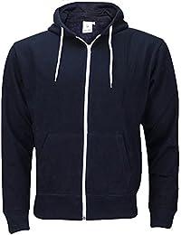 True Face Mens Plain American Fleece Big Size Hoodie Sweatshirt Zipper Top