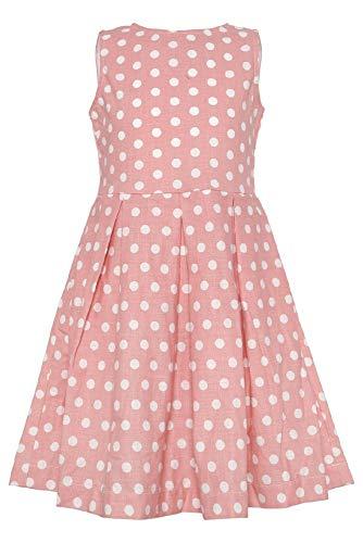 af2e427c293 La-V Mädchenkleid Altrosa Gepunktet Größe 116