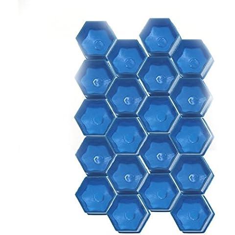 muchkey coche rueda perno tuerca cabeza Cap Covers 17mm protectores de plástico hexagonal hexagonal 20piezas