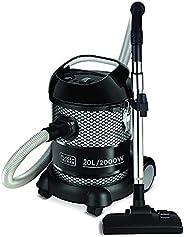 Black+Decker Bv2000 Barrel Vacuum Cleaner 20 Liter, 2000 Watt - Black