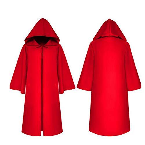 Wizard Devil Es Cloak Robe Ritter Gothic Fancy Kleid up Halloween Masquerade Cosplay Kostüm Cape,Red