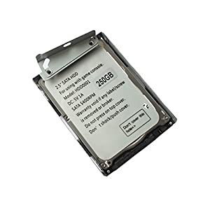 OSTENT 250GB HDD Festplatte + Halterung kompatibel für Sony PS3 Super Slim CECH-4X