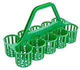 Glass Carrier - Green Glassware Carrier - 10 Cells/Compartments   By Glassjacks