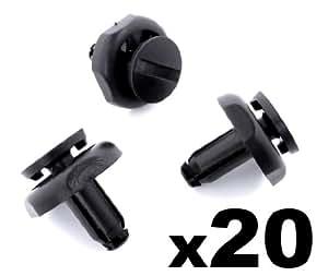 20x Clips Agrafes Plastique - Toyota Enjoliveur Plastique Pinces, Noir Plastique Rivets Pour Moteur Bord (53259-20030, 5325920030) - LIVRAISON GRATUITE!
