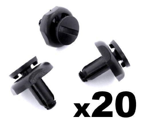 20x Befestigung Clips / Klips - Toyota Plastik Rand Clips, Schwarz Plastik Nieten Für Motor Rand Verkleidung (53259-20030, 5325920030) - KOSTENLOSER VERSAND!