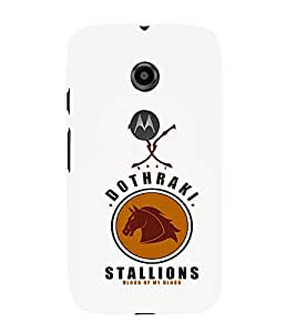 EPICCASE Dothraki stallions Mobile Back Case Cover For Moto E 2nd Generation (Designer Case)