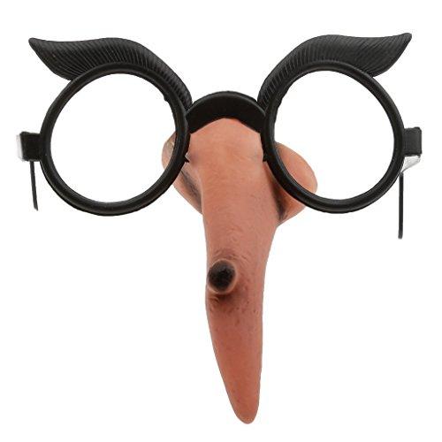 MagiDeal Hexennase mit Brille Hexenbrille Zauberin Hexen Halloween Kostüm