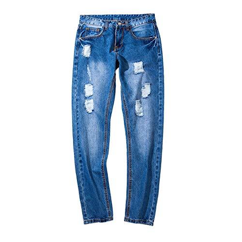 GreatestPAK Denim Baumwoll Jeans Herren Herbst Hip Hop Shredded Hosen  Arbeitshose c62eaa084c1