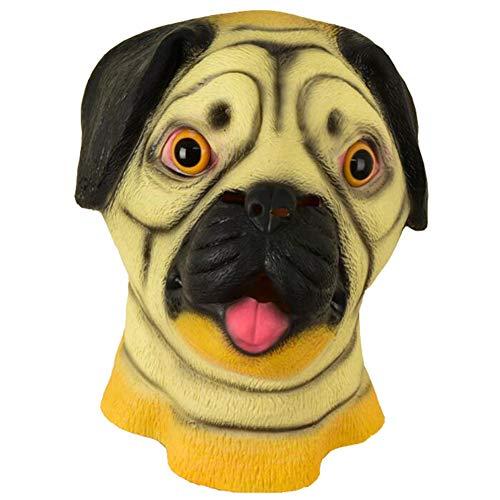 XER Halloween Maske, Latex Selling Cute Pet Shapi Hund Kopfbedeckung, für Halloween, Cosplay, Urlaub - Hunde Und Spinne Kostüm Streich
