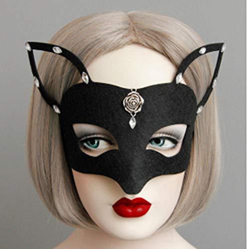 LKJH Maske Maske Mädchen Frauen Maske Catwoman Maskerade Tanzparty Augenmaske Katze Kostüm