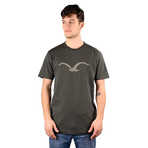 Cleptomanicx T-Shirt Möwe Dark Olive M