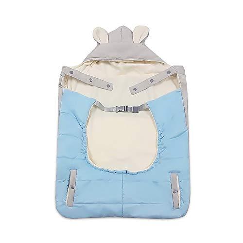 Imagen para SONARIN All Seasons Grueso Cobertor para portabebés,Capa para el invierno,calce cualquier portabebés,Prueba de viento,Impermeable(Azul)