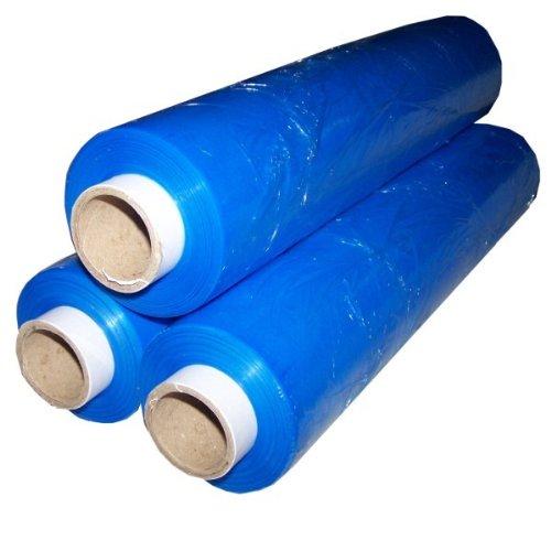 2Rollen blau Palette Stretch/Schrumpffolie 400mmx300m Standard Core